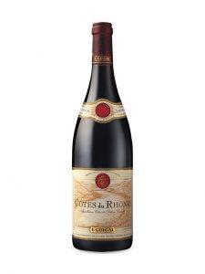 A bottle of Cote du Rhone