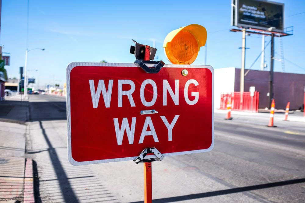 Learn from mistakes - wrong way sign
