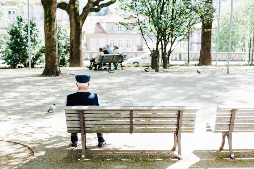 Lonely pensionair
