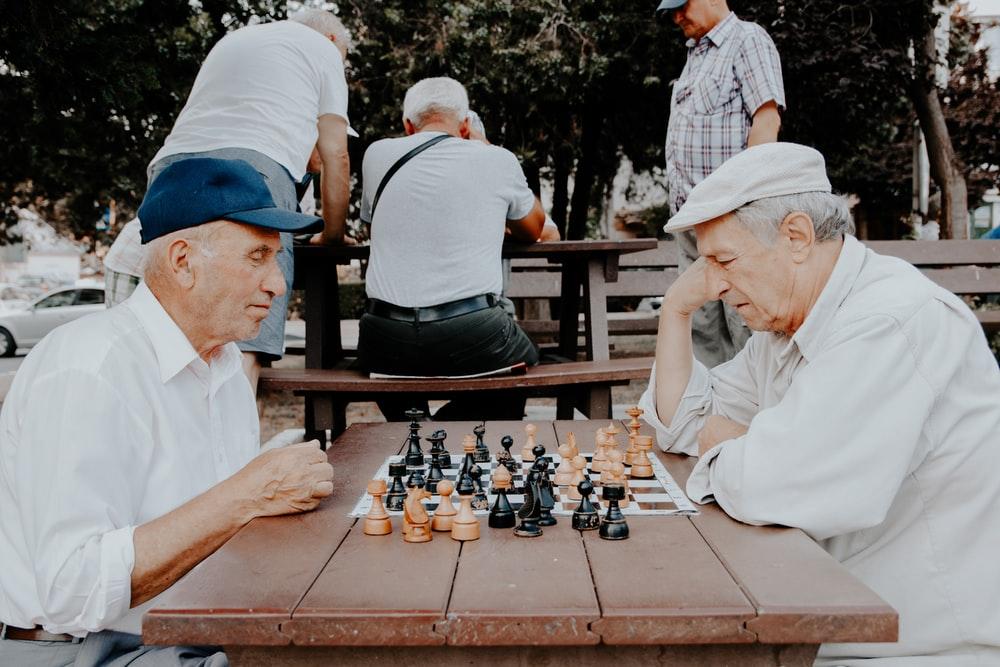 Pensionaries playing chess