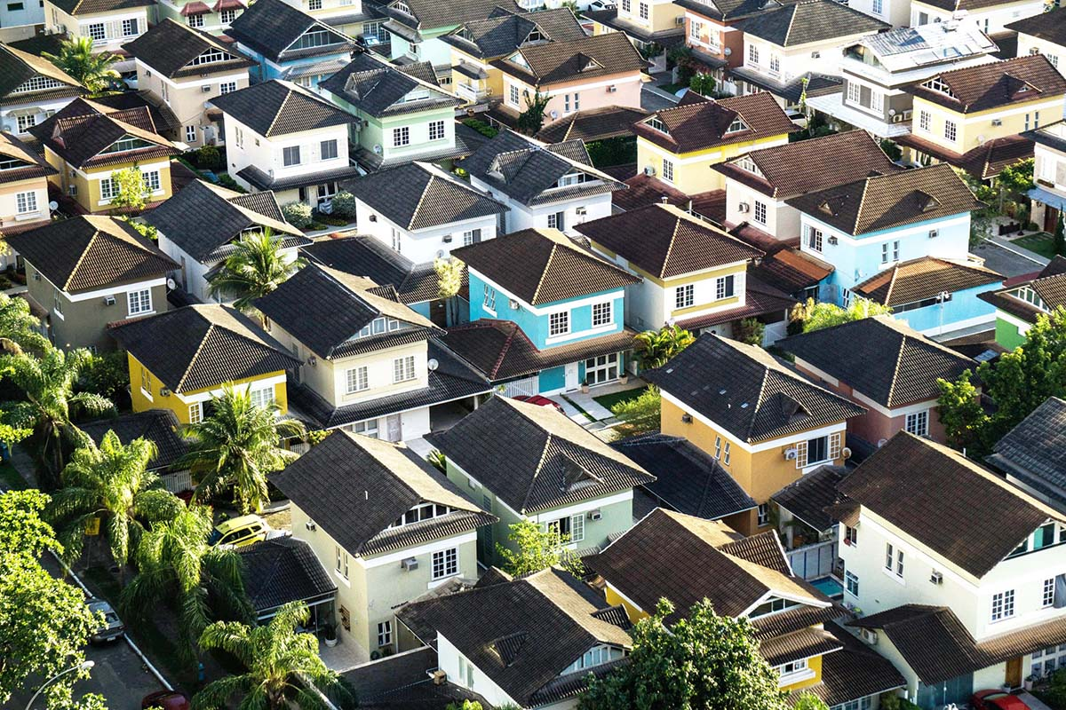 Residential area houses